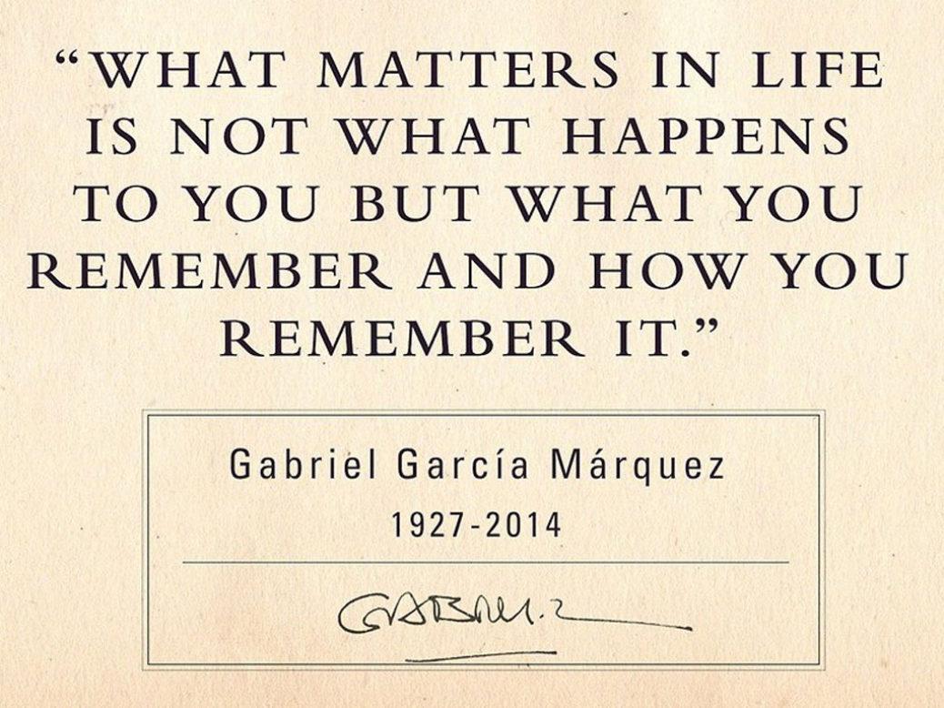 Ετήσιο μνημόσυνο στον Gabriel García Márquez