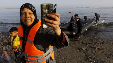 In Kos, Syrians don't just take selfies